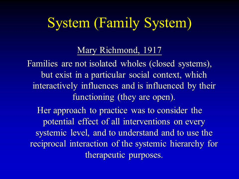 System (Family System)