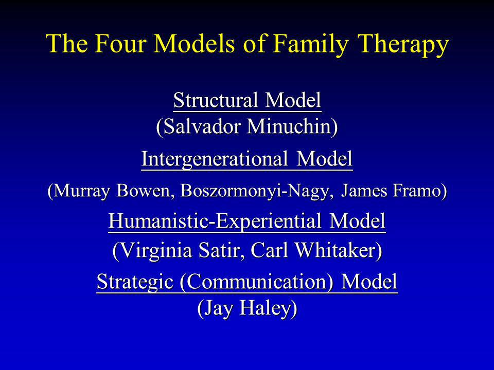 The Four Models of Family Therapy