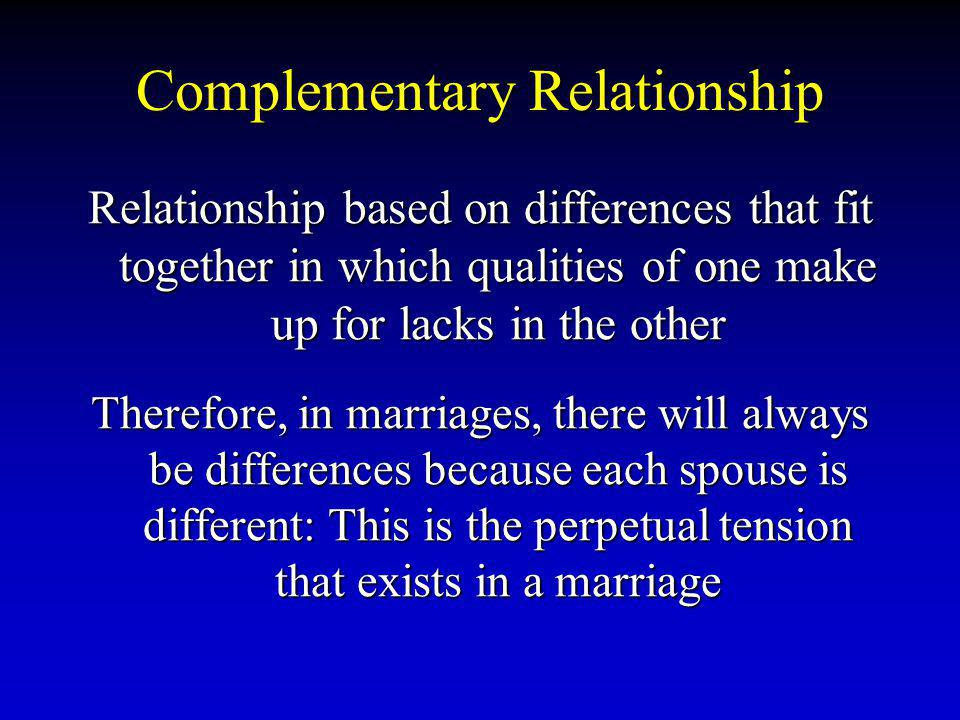 Complementary Relationship