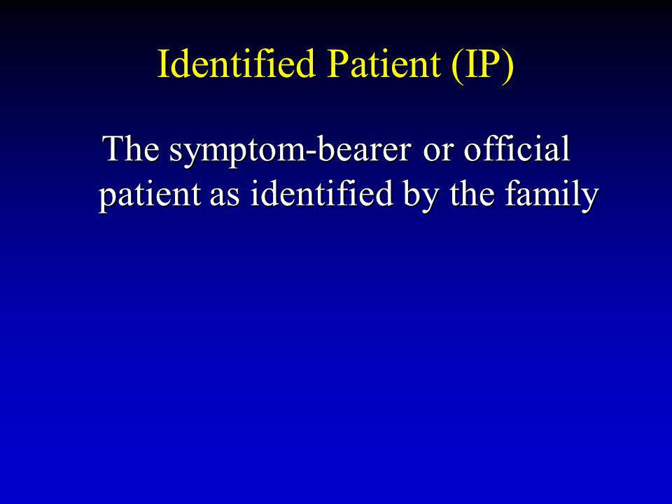 Identified Patient (IP)