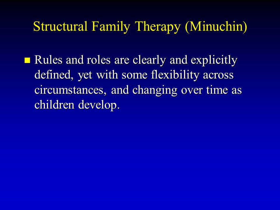 Structural Family Therapy (Minuchin)