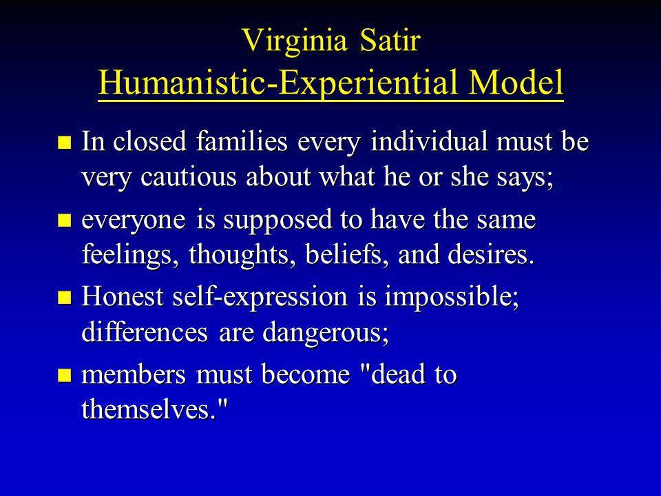 Virginia Satir Humanistic-Experiential Model