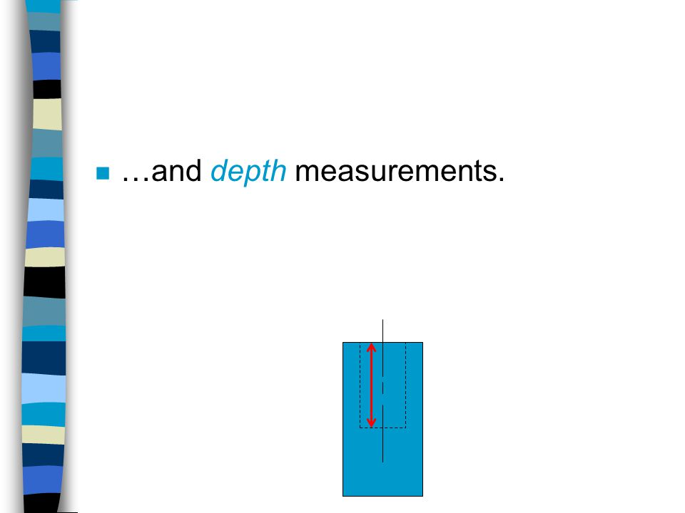 …and depth measurements.