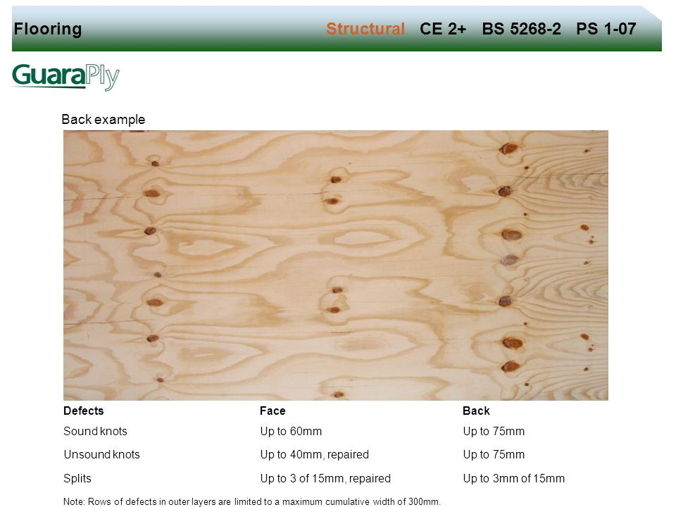 Flooring Structural CE 2+ BS 5268-2 PS 1-07