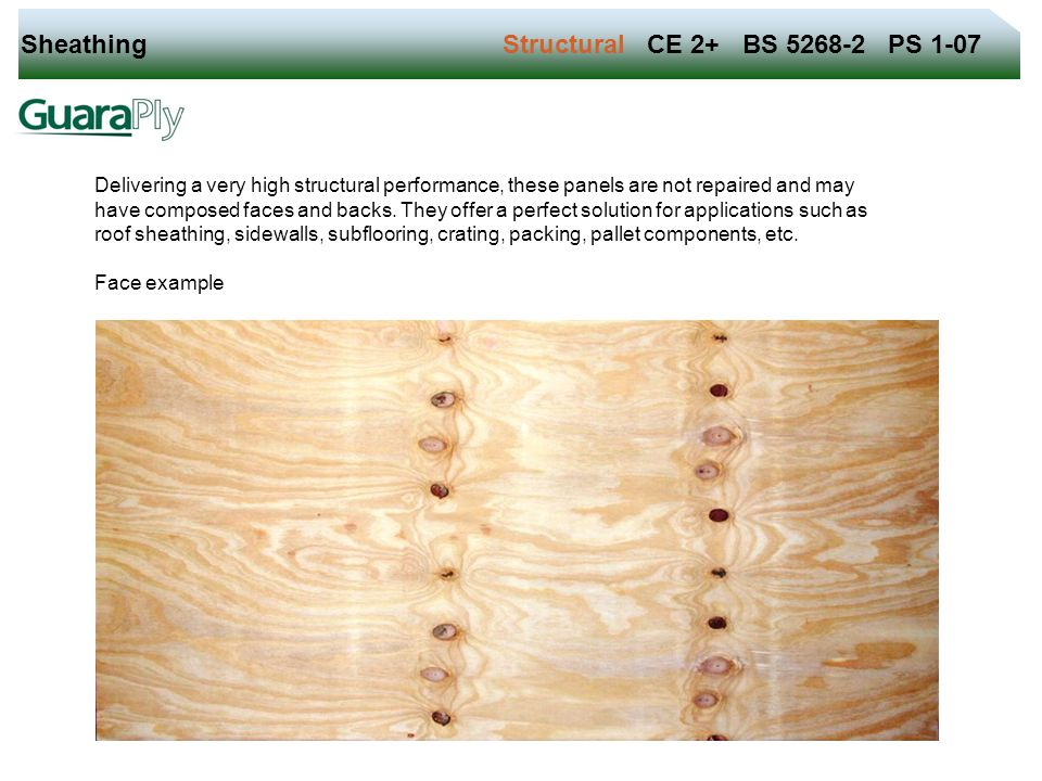 Sheathing Structural CE 2+ BS 5268-2 PS 1-07