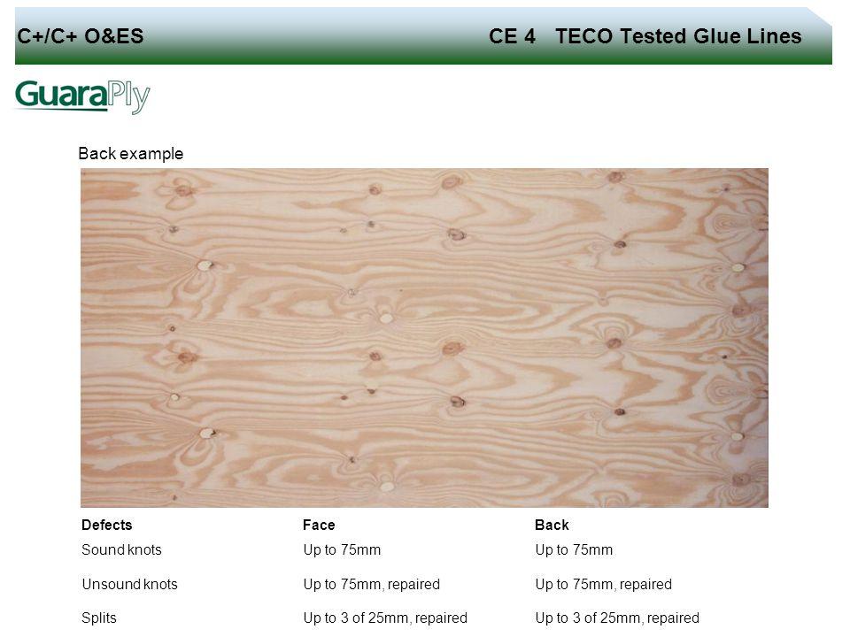 C+/C+ O&ES CE 4 TECO Tested Glue Lines