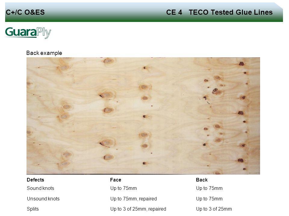 C+/C O&ES CE 4 TECO Tested Glue Lines