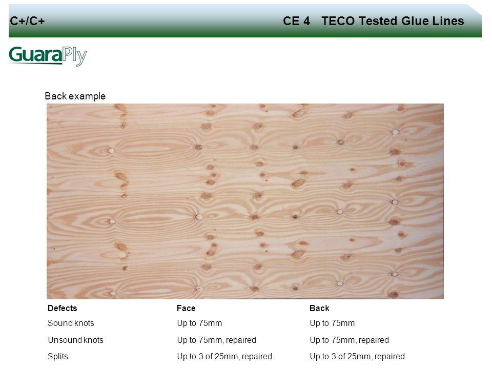 C+/C+ CE 4 TECO Tested Glue Lines