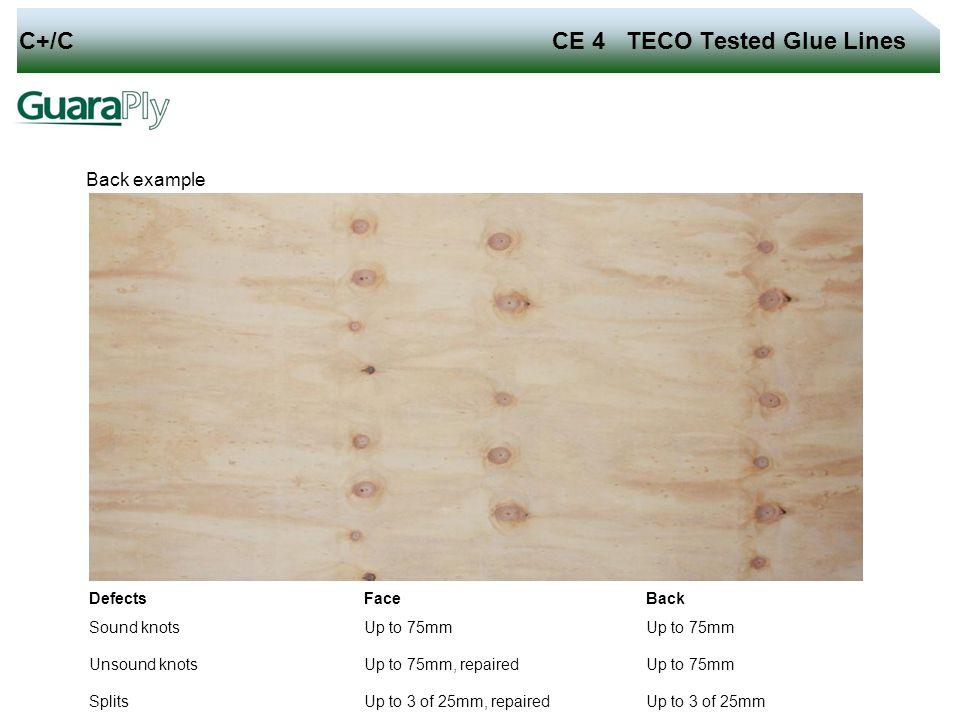C+/C CE 4 TECO Tested Glue Lines