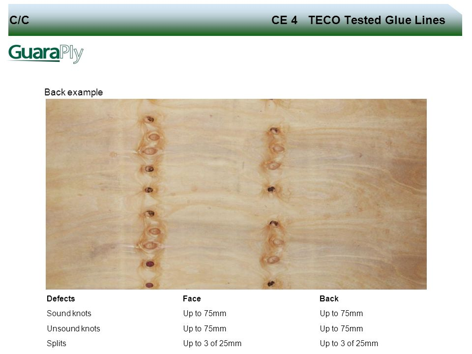 C/C CE 4 TECO Tested Glue Lines