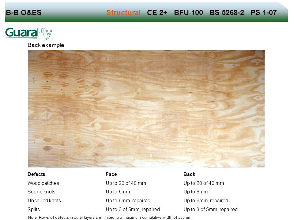 B-B O&ES Structural CE 2+ BFU 100 BS 5268-2 PS 1-07