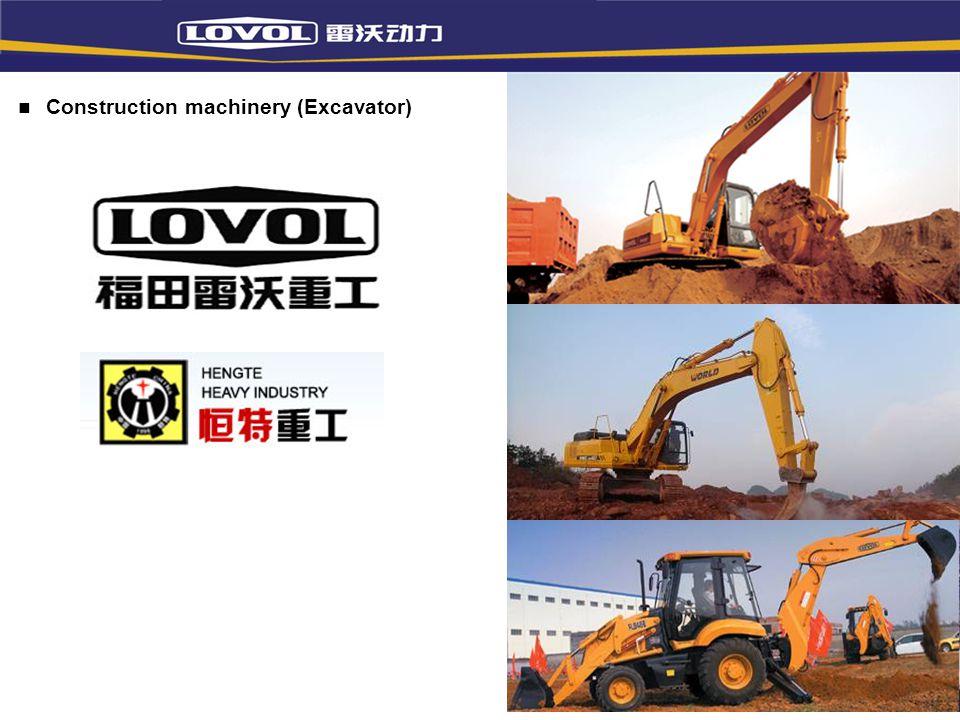 Construction machinery (Excavator)