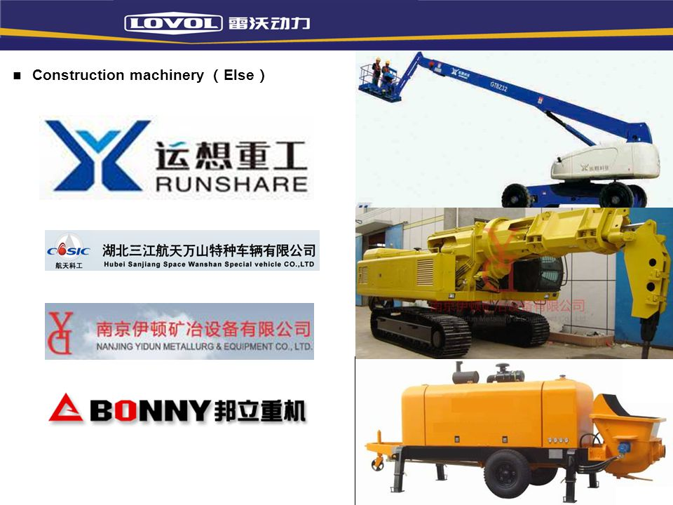 Construction machinery (Else)