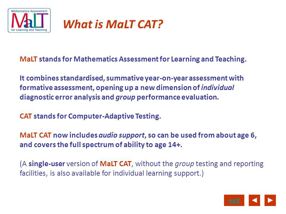 What is MaLT CAT