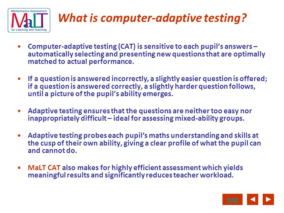 What is computer-adaptive testing