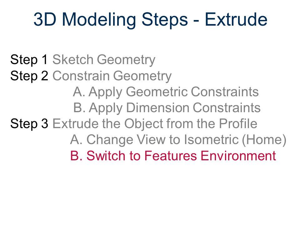 3D Modeling Steps - Extrude