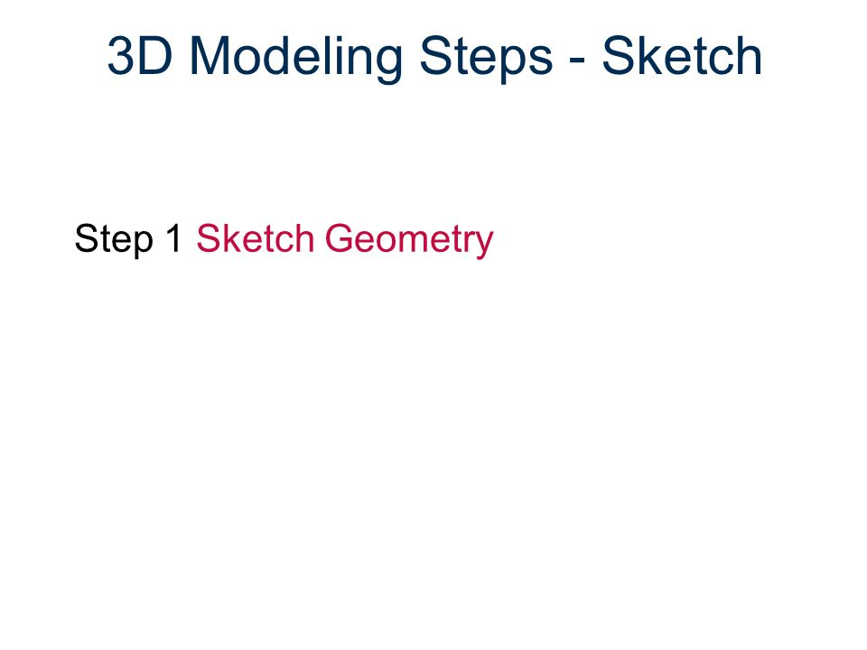 3D Modeling Steps - Sketch