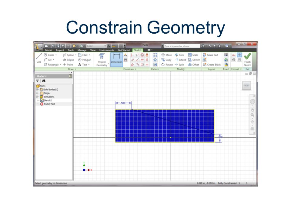 Constrain Geometry Parametric Modeling Gateway To Technology®