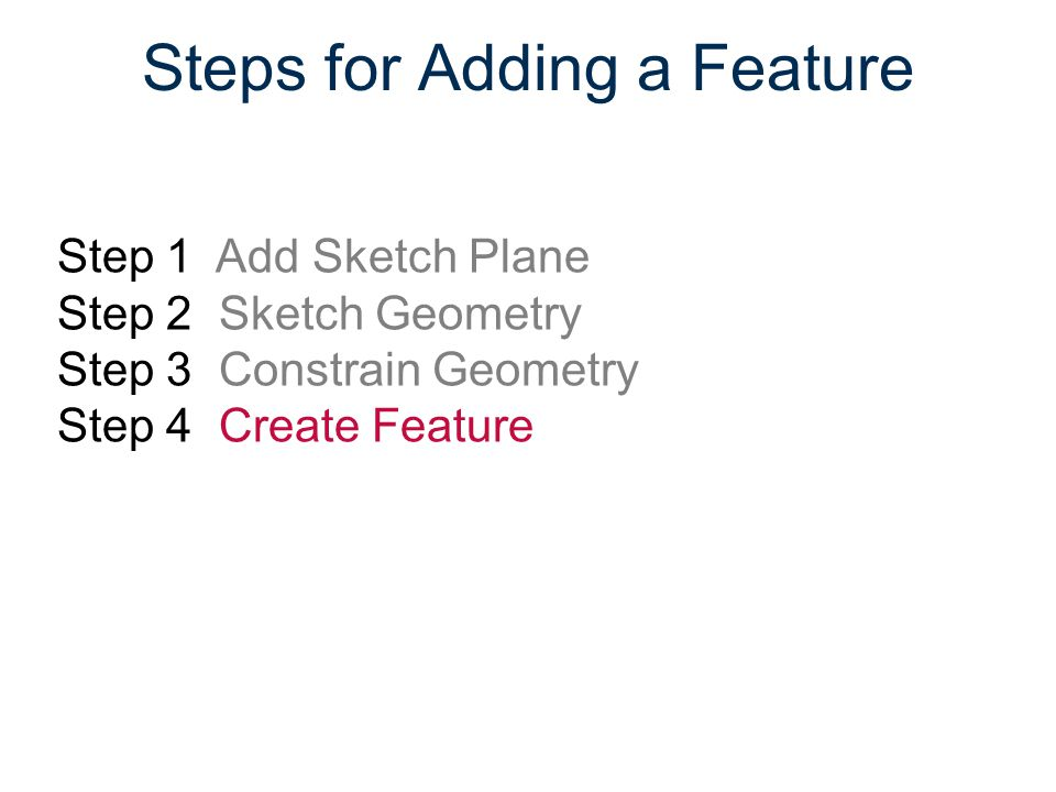 Steps for Adding a Feature