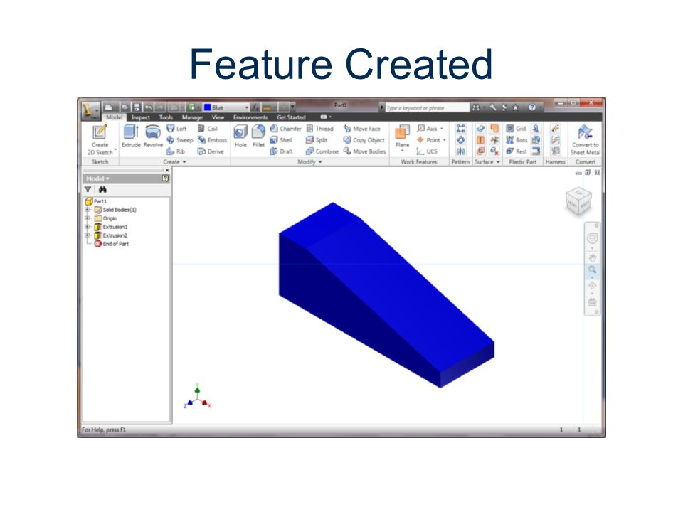 Feature Created Parametric Modeling Gateway To Technology®