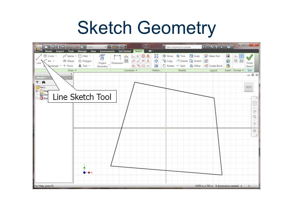 Sketch Geometry Line Sketch Tool Parametric Modeling