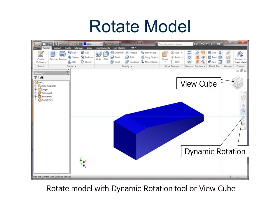 Rotate Model View Cube Dynamic Rotation