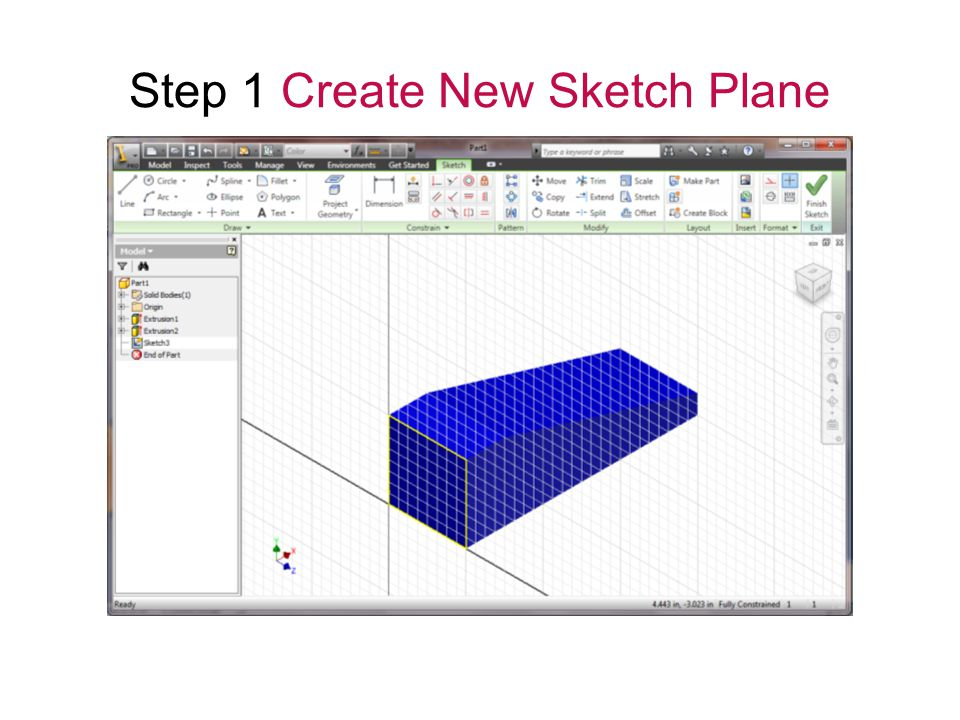 Step 1 Create New Sketch Plane