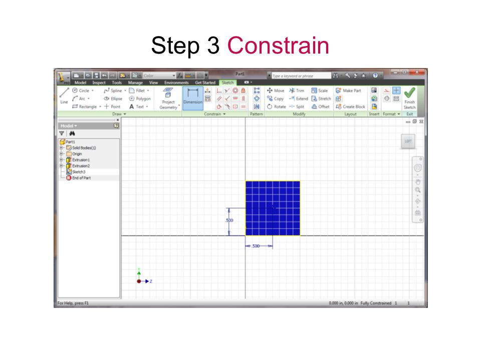 Step 3 Constrain Parametric Modeling Gateway To Technology®