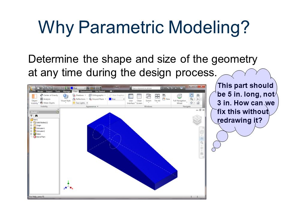 Why Parametric Modeling