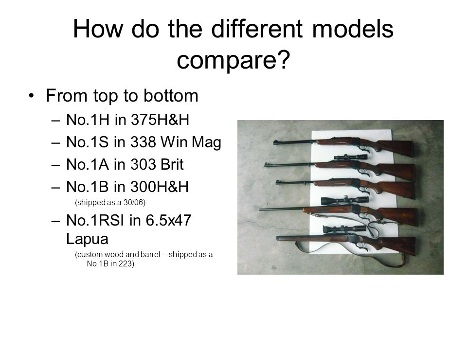 How do the different models compare