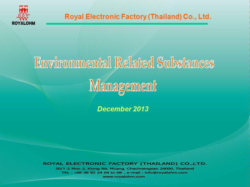 Environmental Related Substances