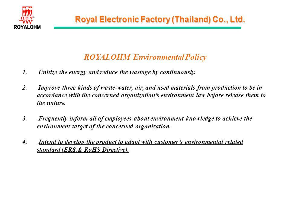 ROYALOHM Environmental Policy