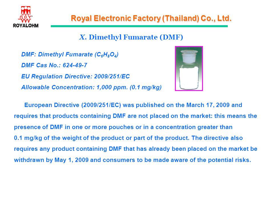 X. Dimethyl Fumarate (DMF)