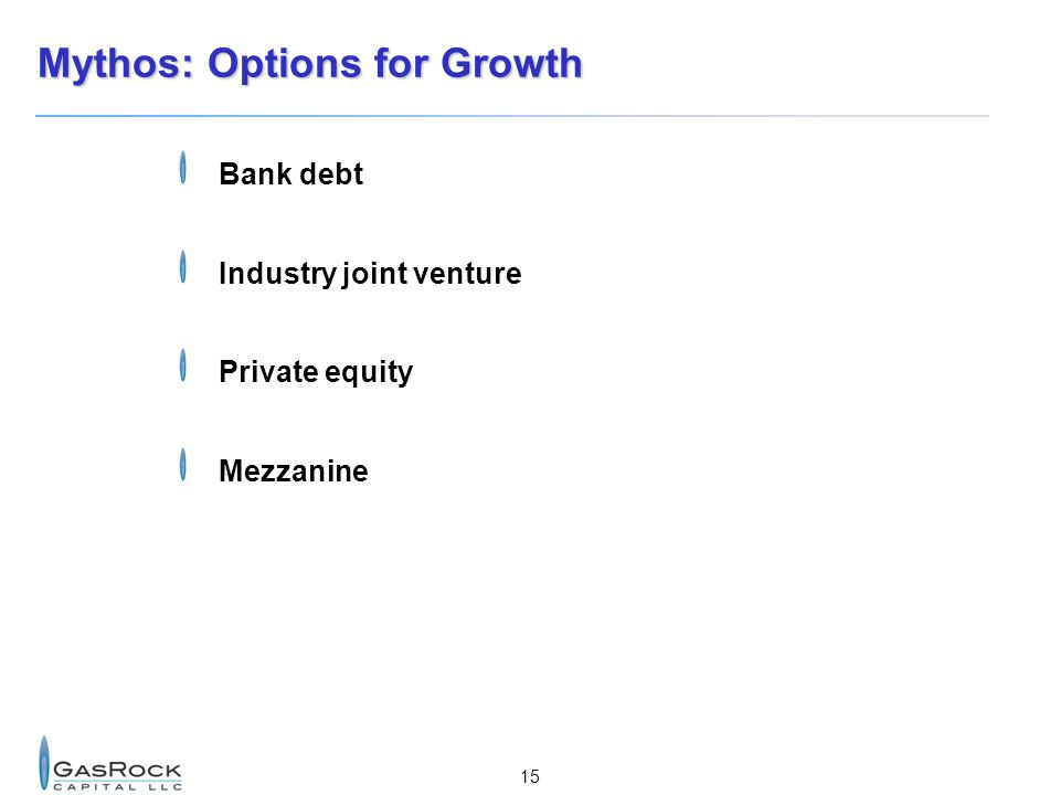 Mythos: Options for Growth