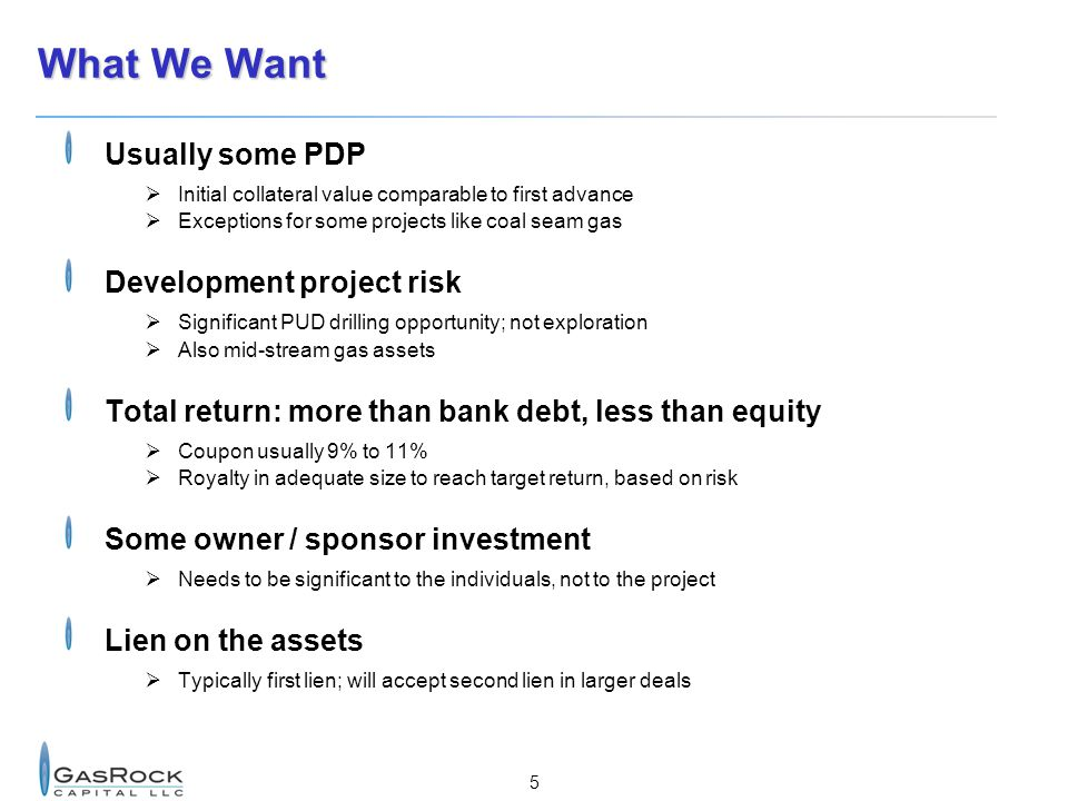 What We Want Usually some PDP Development project risk