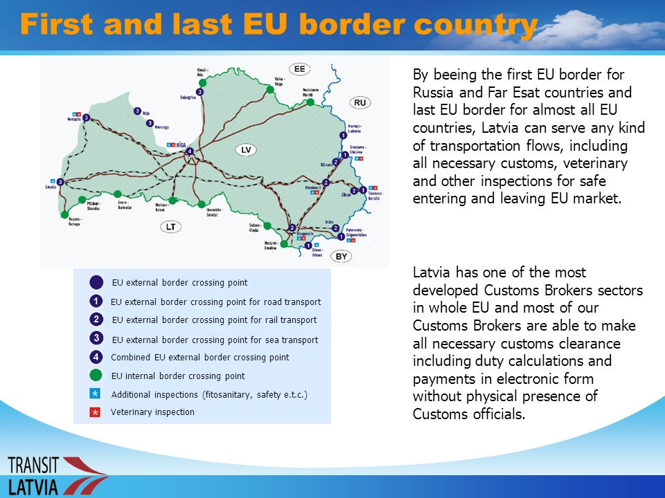First and last EU border country