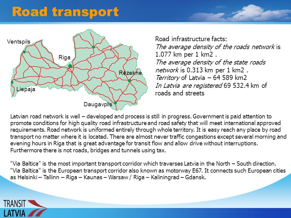 Road transport Road infrastructure facts: