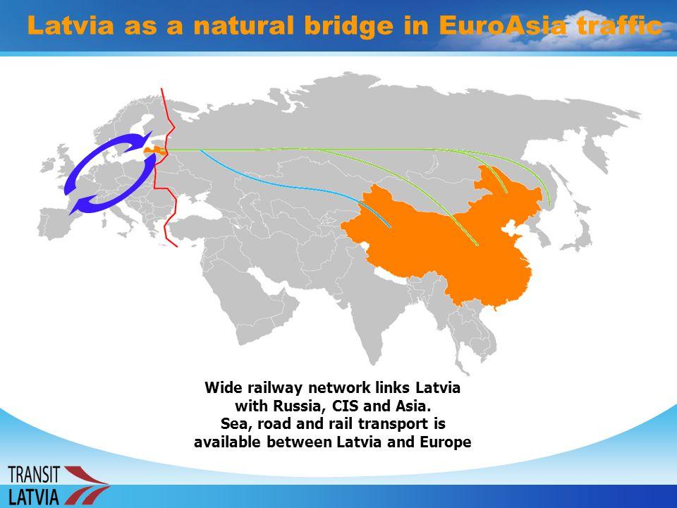 Latvia as a natural bridge in EuroAsia traffic