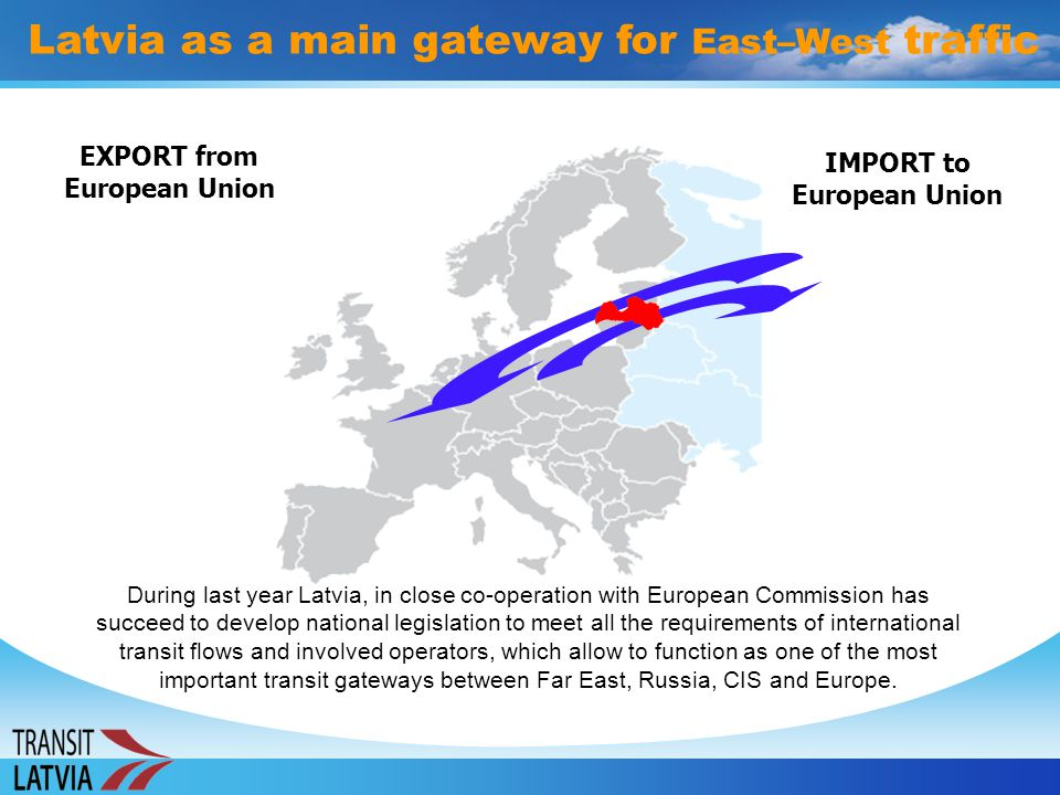 Latvia as a main gateway for East–West traffic