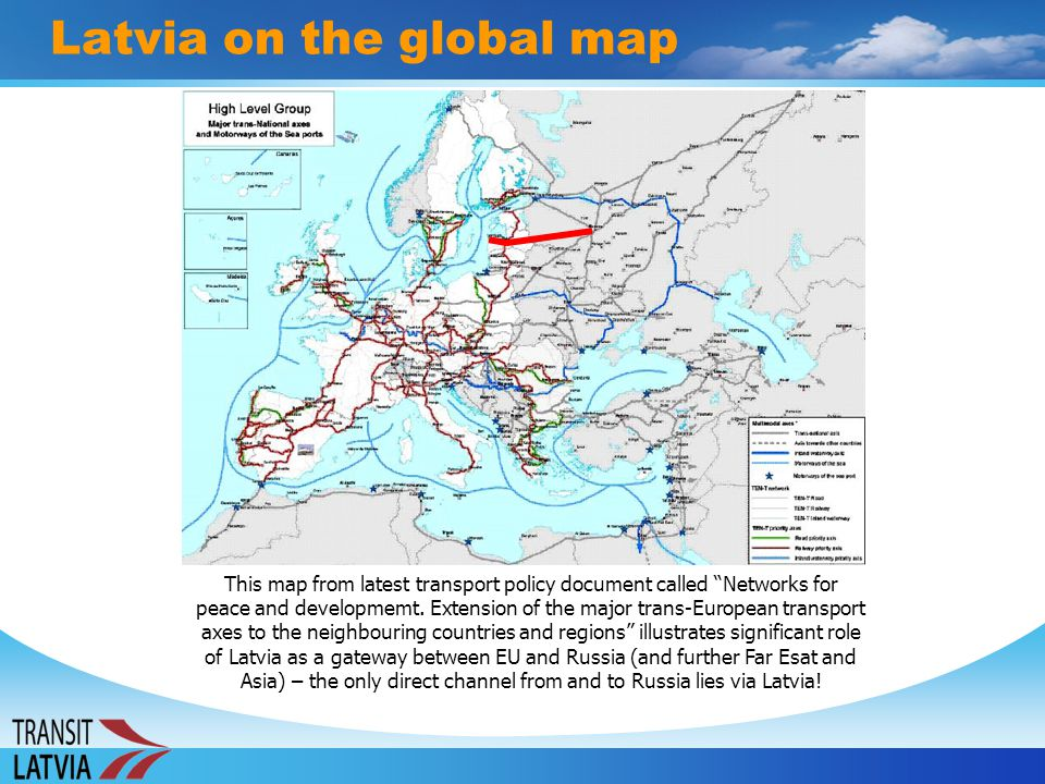 Latvia on the global map