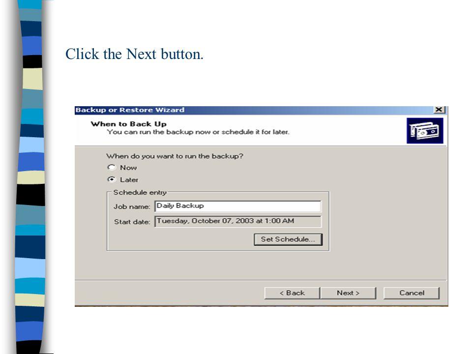 Click the Next button.