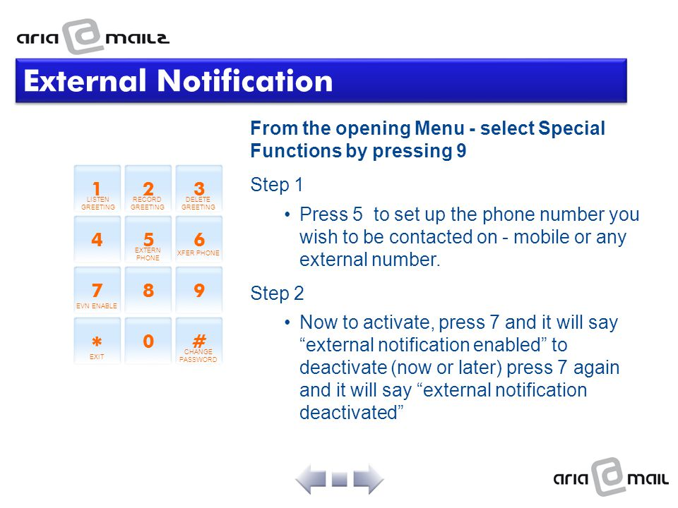 External Notification