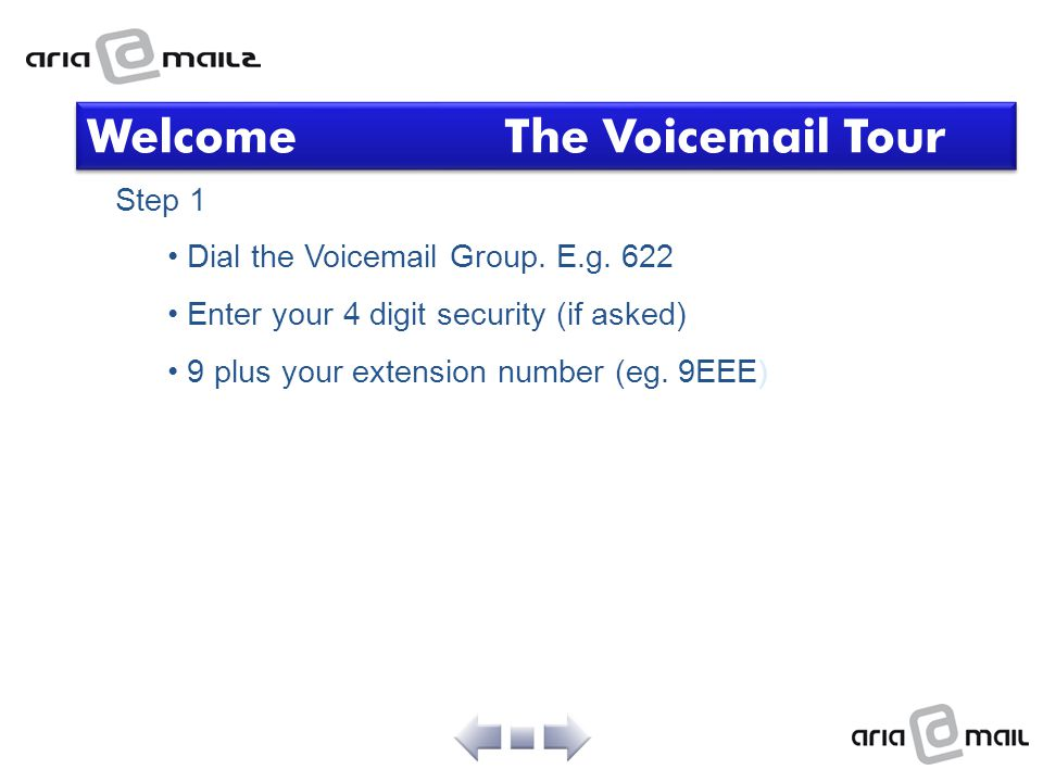 Welcome The Voicemail Tour