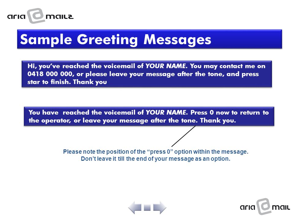 Sample Greeting Messages