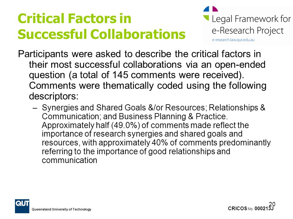 Critical Factors in Successful Collaborations