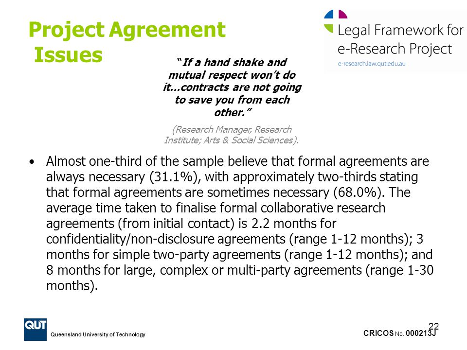 Project Agreement Issues