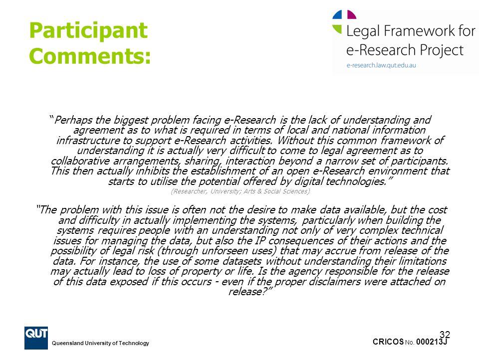 Participant Comments: