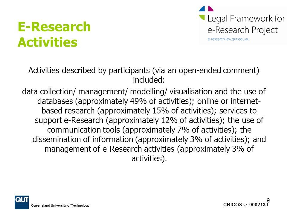 E-Research Activities