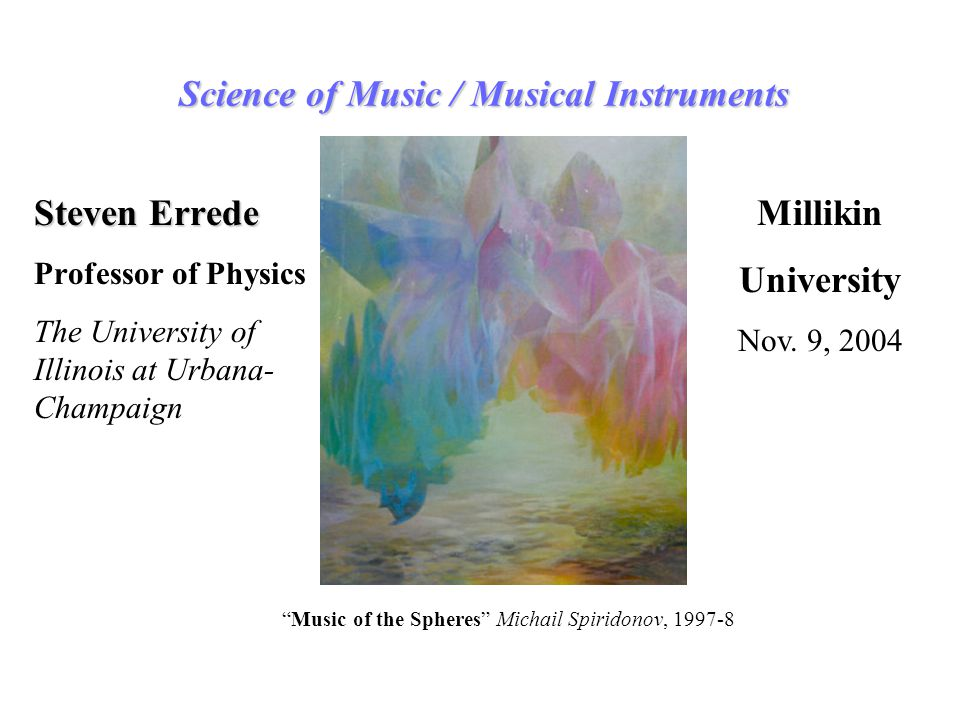 Science of Music / Musical Instruments