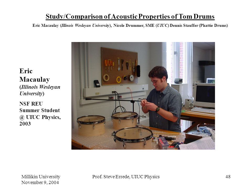 Study/Comparison of Acoustic Properties of Tom Drums
